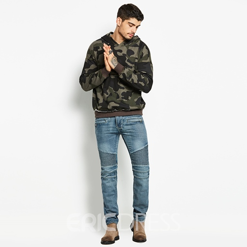 Ericdress Camouflage Loose Pullover Mens Hoodies
