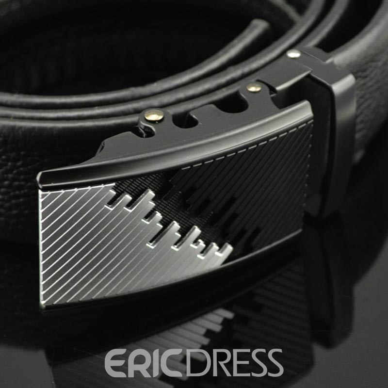 Ericdress Genuine Automatic Buckle Men's Leather Belt