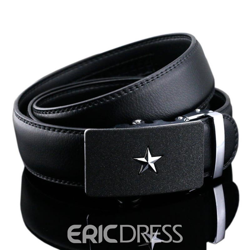 Ericdress Hot Star Automatic Buckle Genuine Leather Men's Belt