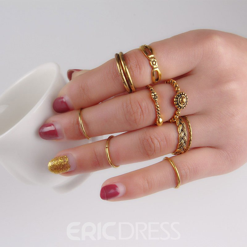 Ericdress Charming Concise Vintage Women's Ring Set