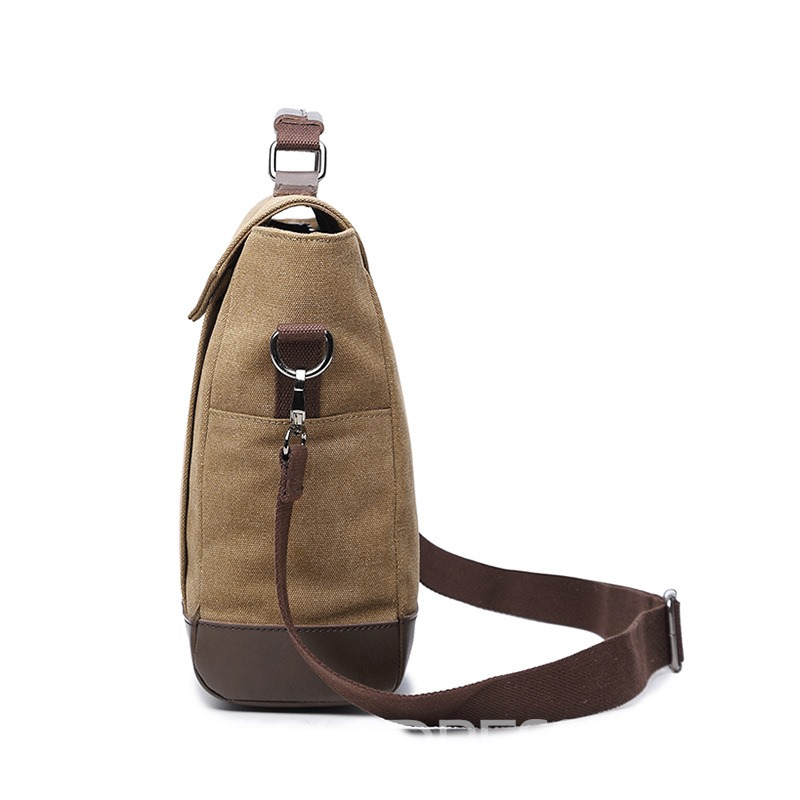 Ericdress Solid Color Canvas Men's Bag