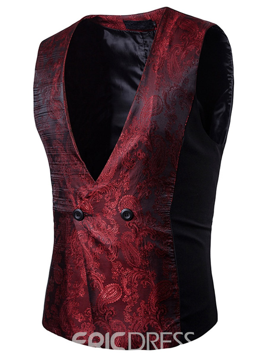 Ericdress Patched Vogue Slim Men's Vest