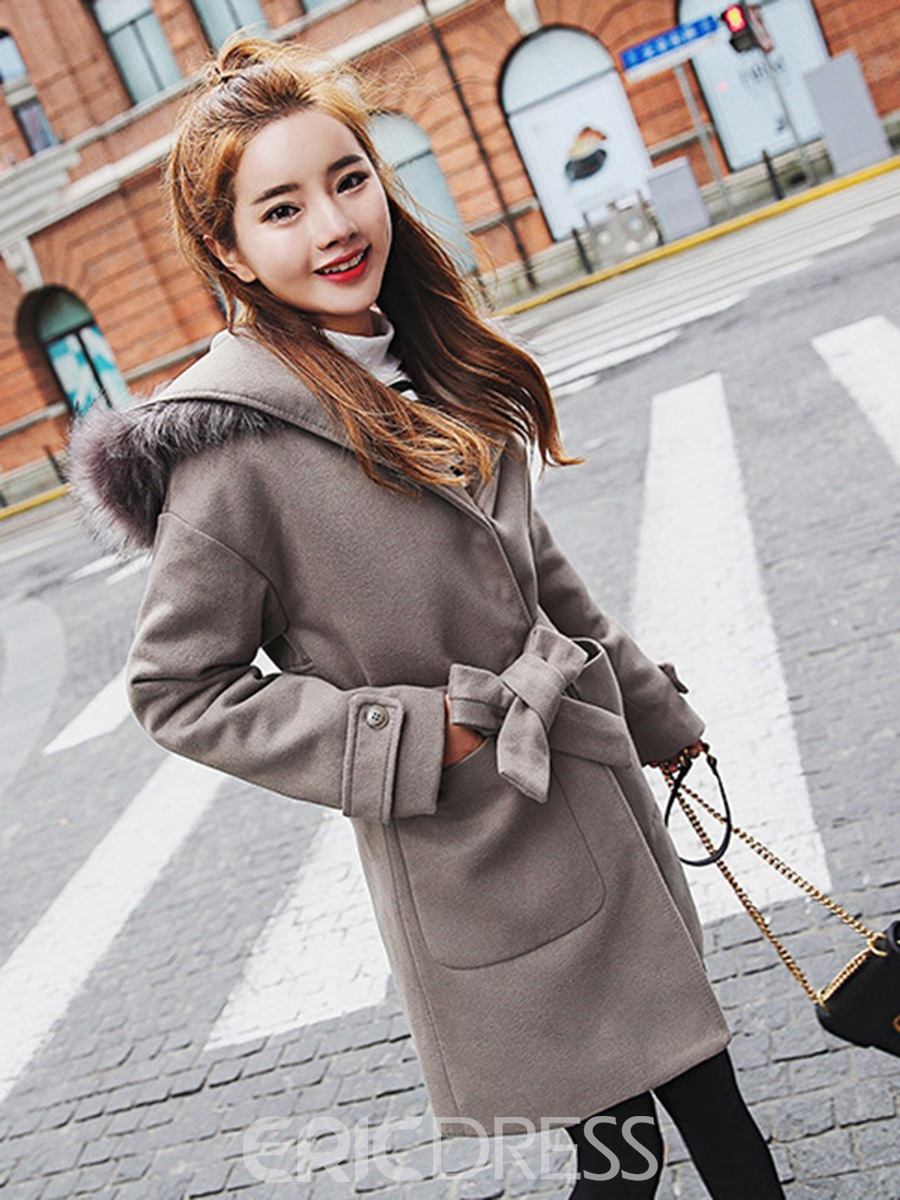 Ericdress Plain Loose Mid-Length Coat