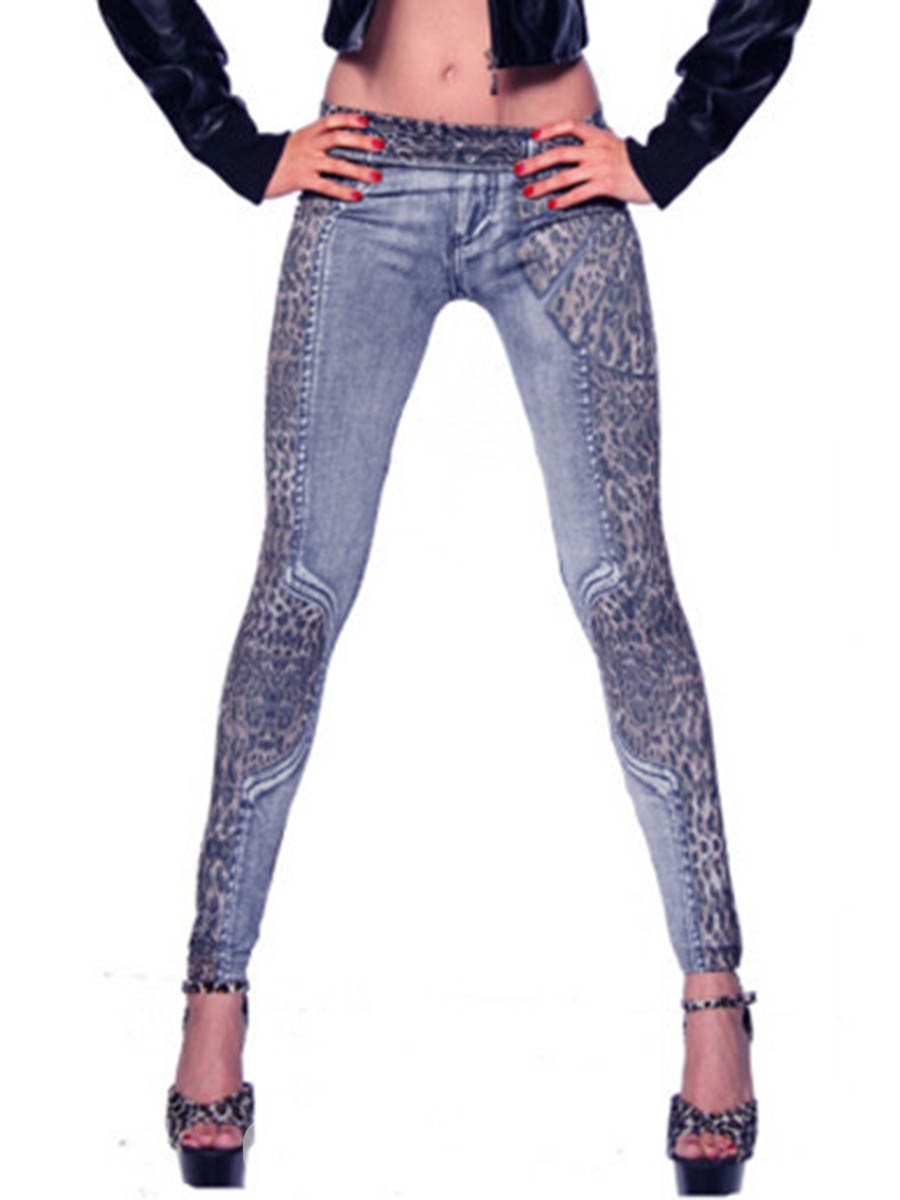 Ericdress Low-Waist Leopard Print Women's Leggings