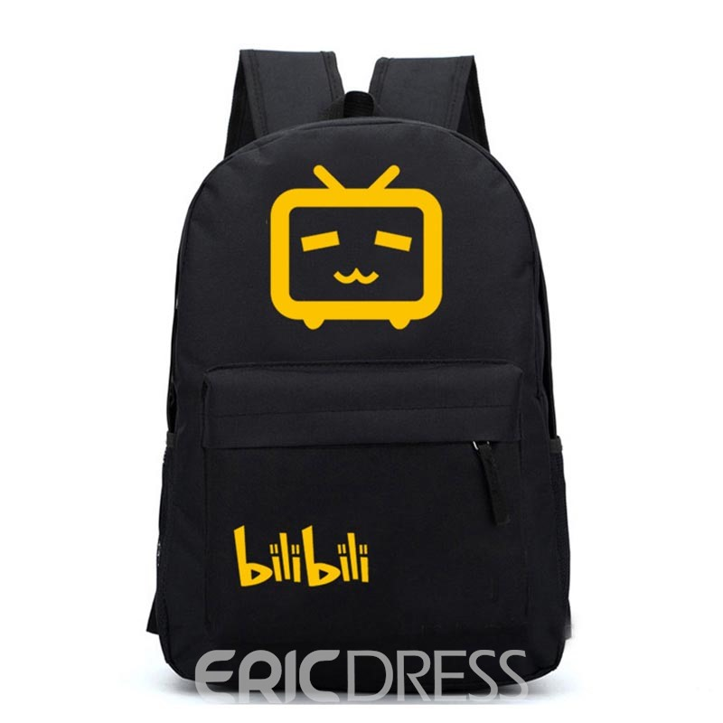 Ericdress Casual Comic Prints Zipper Backpack