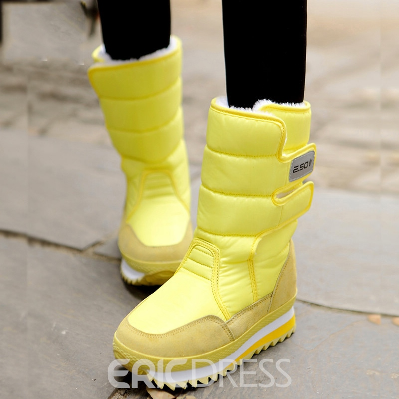Ericdress Sweet Candy Color Snow Boots