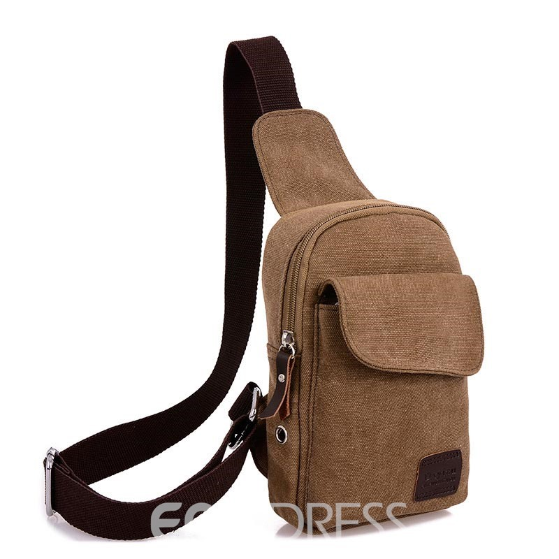 Ericdress Vintafe Solid Color Men's Chest Pack