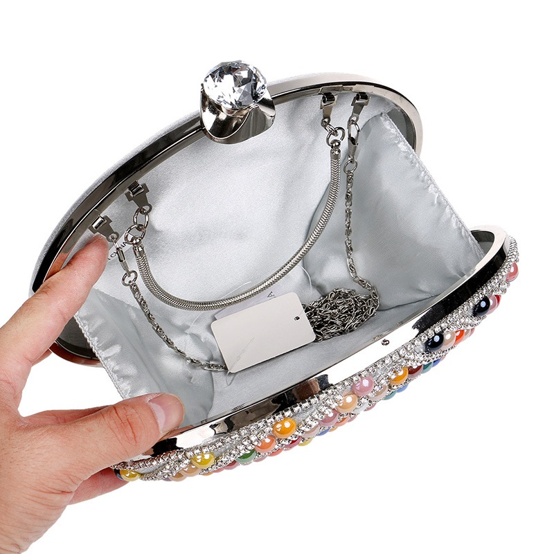 Ericdress Ellipse Shape Colorful Beads Decoration Clutch
