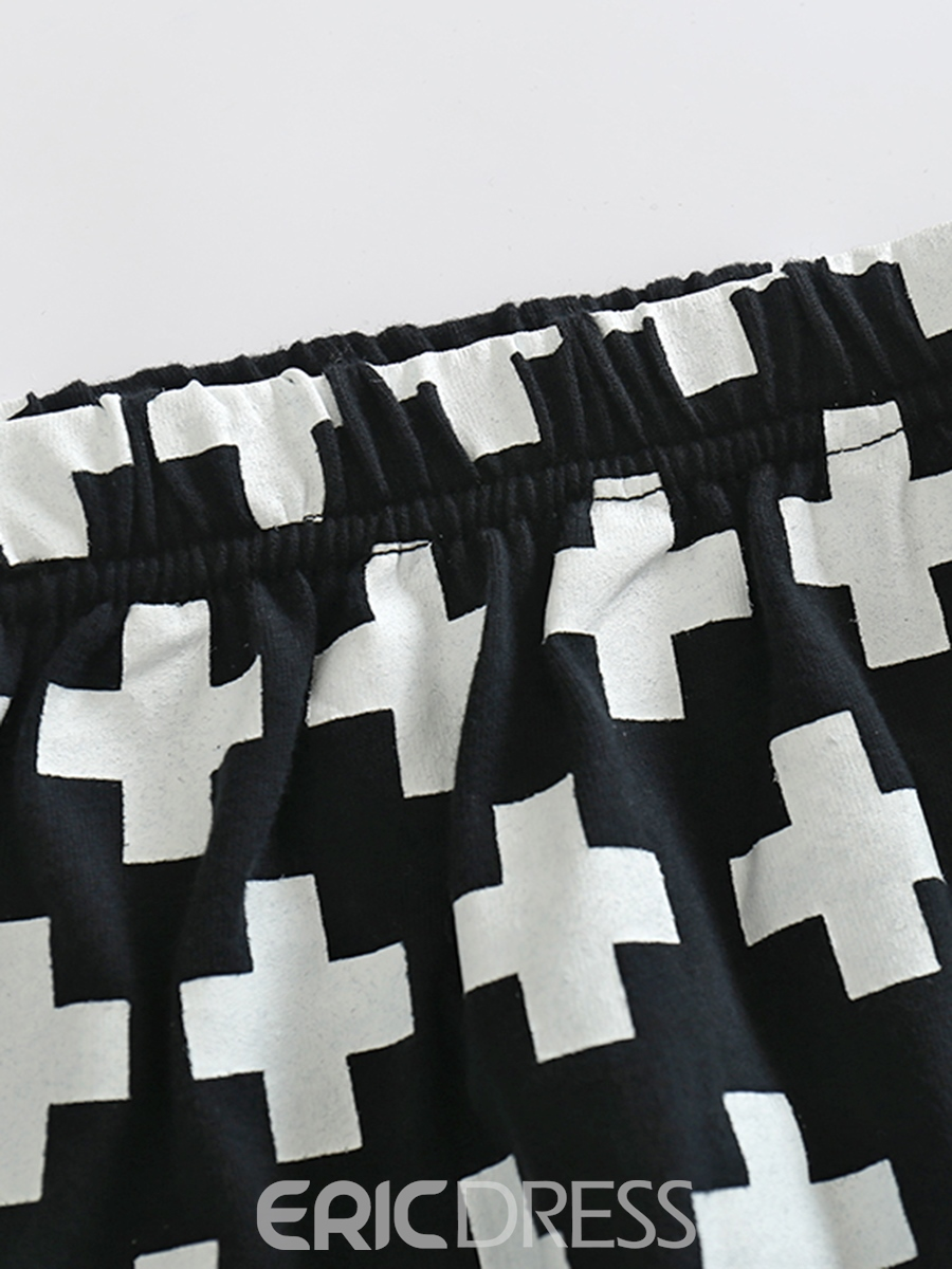 Ericdress Letter & Cross Print Baby Boy's 2-Pcs Outfit