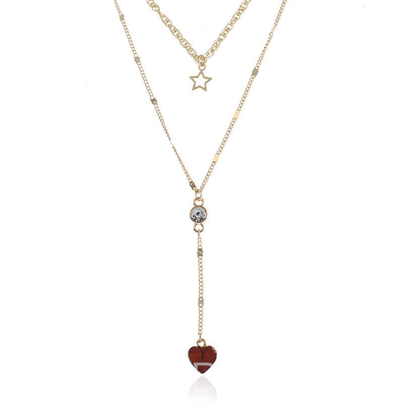 Ericdresss Alluring Heart Pendant Long Women's Necklace