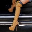 Ericdress Fashion Lace-Up Platform Over-the-Knee Boots