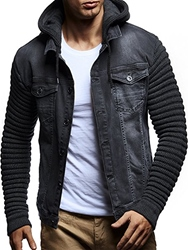 Ericdress Hooded Patchwork Pockets Mens Jacket фото