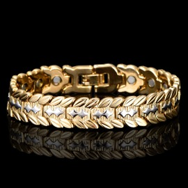 Ericdress Luxurious 18K Magnet Health Function Men's Bracelet