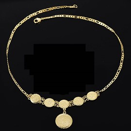 Ericdress 18k Gold Plating Figaro Necklace for Men