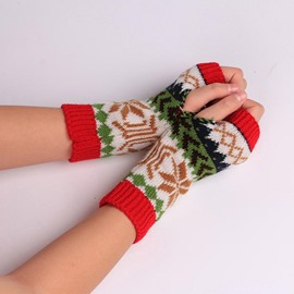 Ericdress Warm Snowflake Pattern Women's Gloves