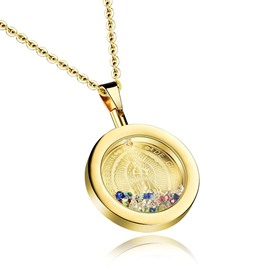 Ericdress Colorful Diamante Round Pendant Women's Necklace