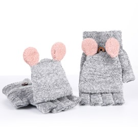 Ericdress Cute Knitting Wool Thicken Gloves for Women