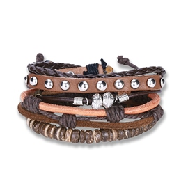 Ericdress Punk Style Cowhide Weave Bracelet for Men