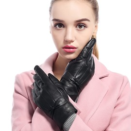 Ericdress Exquisite Genuine Leather Women's Gloves with Velvet