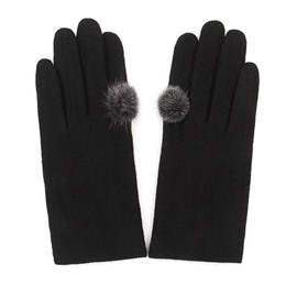 Ericdress Hair Ball Knitting Wool Women's Gloves