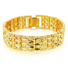 Ericdress High End 18K Gold Plating Men's Bracelet