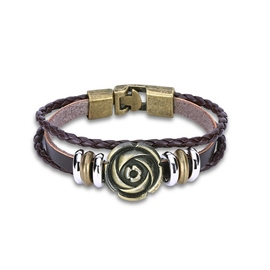 Ericdress Rose Vintage Multilayer Men's Bracelet