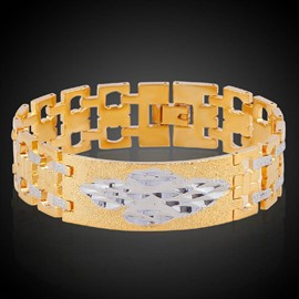 Ericdress Hot Gold Plating Hollow Out Men's Bracelet