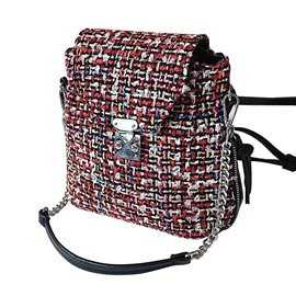 Ericdress Color Block Wool Blends Women Backpack