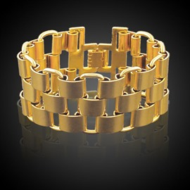 Ericdress Hollow Out Stainless Steel Men's Bracelet