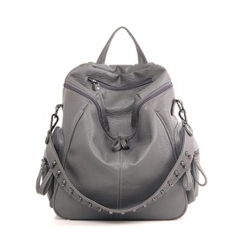 Ericdress Casual Soft PU Rivet Decoration Backpack