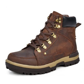Ericdress High-Cut Lace-Up Plain Outdoors Men's Boots