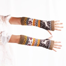 Ericdress Cartoon Pattern Knitting Wool Women's Gloves