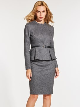 Ericdress Jacket and Skirt Women's Suit