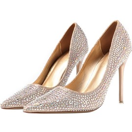 Ericdress Rhinestone Slip-On Women's Stiletto Heel Pumps