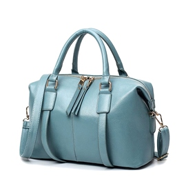 Ericdress Big Capacity Solid Color Zipper Women Handbag