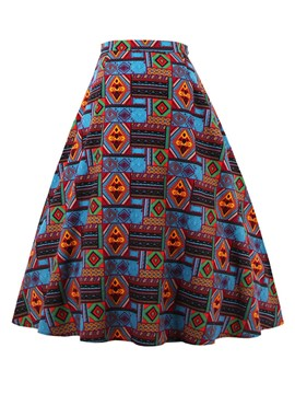 Ericdress Print A-Line Women's Skirt