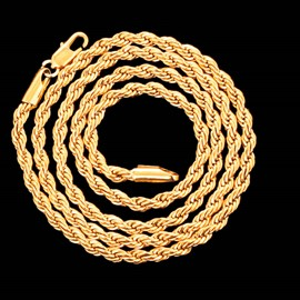 Ericdress 18K Gold Plating Twist Chain Men's Necklace