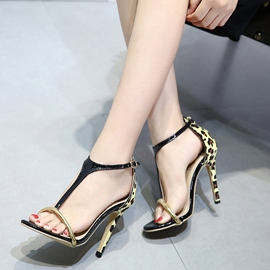 Ericdress Leopard Open Toe Women's Stiletto Sandals