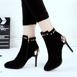 Ericdress Rivet Sequin Plain High Heel Boots