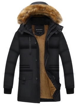 Ericdress Hooded Zipper Thicken Warm Men's Winter Coat