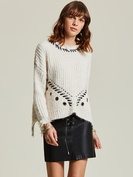 Ericdress Loose Plain Hollow Pullover Women's Sweater