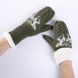 Ericdress Trendy Thicken Warm Christmas Gloves for Women