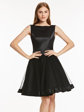 Ericdress a-line, tour de cou Bowknot mi-longues Homecoming robe
