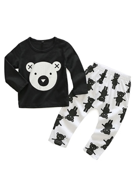 Ericdress Cartoon Print Baby Boy's 2-Pcs Outfit