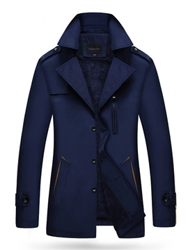 Ericdress Notched Lapel Men's Woolen Coat