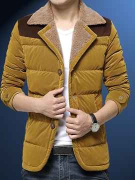 Ericdress Lapel Thicken Warm Men's Winter Coat