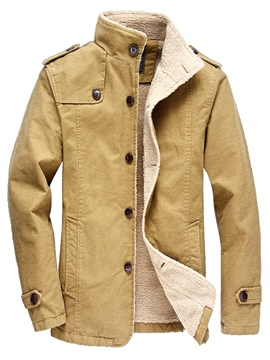Ericdress Stand Collar Fleece Warm Men's Jacket