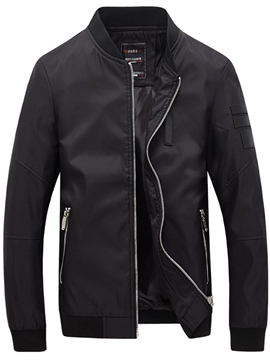 Ericdress Stand Collar Zipper Slim Men's Jacket