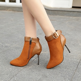 Ericdress Beads Decorated Buckle High Heel Boots