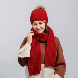 Ericdress Best Seller Pure Color Hat&Scarf for Women